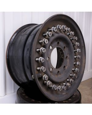 """24-Bolt Evenly Spaced 16.5"""" x 8.25"""" Steel HMMWV Wheel, Used (A Grade)"""