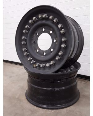 24-Bolt Tandem Stud HMMWV Wheel - Black Drab (A Grade)